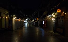 night, Itsukushima, lantern, Asia, Japan, street light