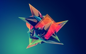 Facets, Justin Maller, geometry, digital art
