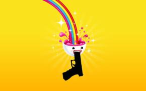 rainbows, gun