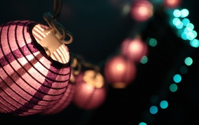 blurred, lights, bokeh, photography, macro, decorations