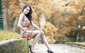 smooth skin, Asian, soft shading, model, blurred