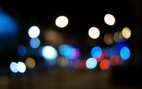 light trails, traffic lights, bokeh