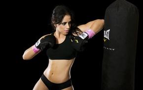 sports bra, boxing, sports, kickboxing, girl, boxing gloves