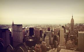 USA, cityscape, skyscraper, Manhattan, city, Empire State Building