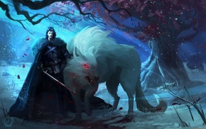 direwolves, wolf, concept art, Direwolf, Jon Snow, A Song of Ice and Fire