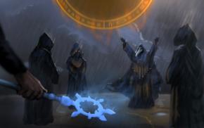 Terraria, cultist, magic, rain, jake55778, fantasy art