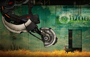 deer, Valve Corporation, artwork, Portal, GLaDOS, video games