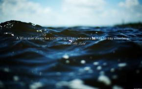 sea, Imam, quote, water, sky, Ali ibn Abi Talib