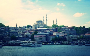 building, Istanbul, city, sea, architecture, cityscape