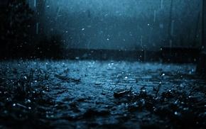 nature, rain