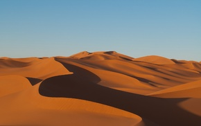 landscape, dune, shadow, desert, clear sky, nature