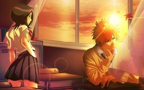 anime girls, schoolgirls, Bleach, school uniform, anime, Kuchiki Rukia