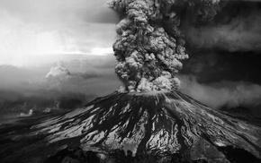 volcano, nature