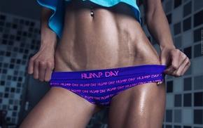 pierced navel, flat belly, girl, panties, Fedor Shmidt, fitness model