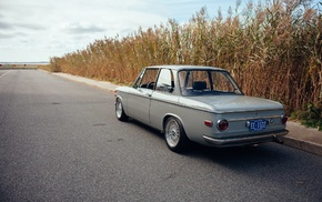BMW, road, car, field, BMW 2002