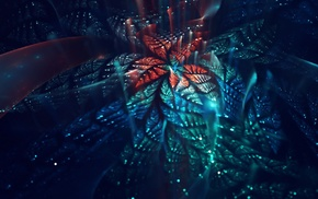 abstract, bokeh, digital art, fractal