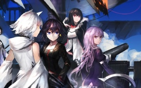 Archer Natus, Pixiv Fantasia T, long hair, coats, swd3e2, anime girls