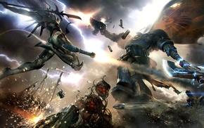 battle, Ultramarines, Eldar, Warhammer 40, 000