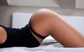 legs, black panties, ass, black clothing