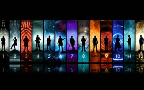 panels, silhouette, The Doctor, Doctor Who
