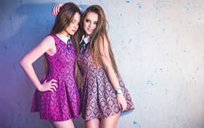 dress, hair, brunette, teen, model, pink