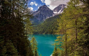 Italy, nature, mountain, lake, summer, turquoise
