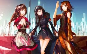 earrings, anime girls, long hair, Honda Mio, THE iDOLMSTER Cinderella Girls, Shibuya Rin
