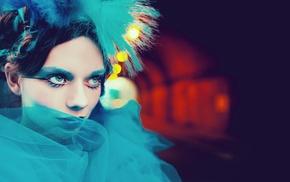 bokeh, fashion, model, eyeshadow