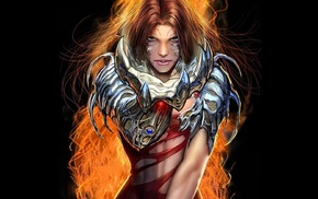 sara pezzini, comic books, black background, Top Cow, Witchblade