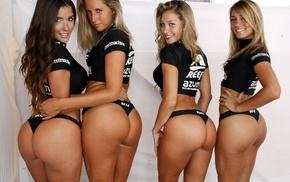 Miss Reef, back, T, shirt, girl, hands on hips