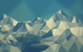 simple, mountain, low poly