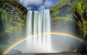 water, Iceland, long exposure, nature, stones, rock