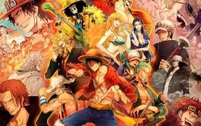 Brook, Nico Robin, Shanks, Nami, Trafalgar Law, One Piece