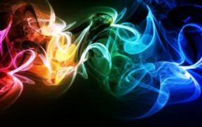 abstract, smoke, colorful