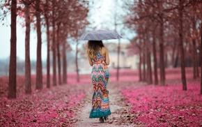 girl outdoors, heels, girl, umbrella