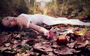 Asian, model, girl, brunette, white dress, girl outdoors