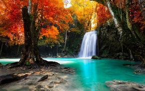 tropical, Thailand, fall, water, colorful, landscape