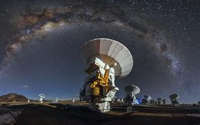 space, Milky Way, universe, starry night, long exposure, Atacama Desert