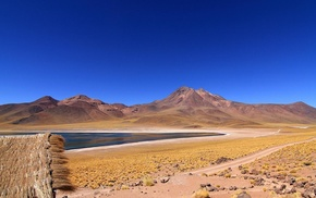 nature, Atacama Desert, hut, mountain, Chile, lake
