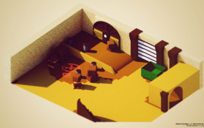render, 3D, low poly, Counter, Strike Global Offensive, isometric