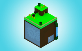 isometric, Super Mario World, low poly