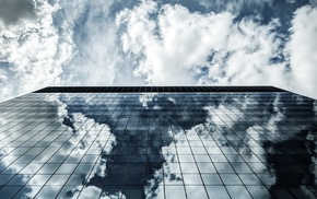 clouds, transparent background, shadow, skyscraper, architecture