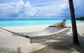 beach, sea, summer, nature, Vacations, Maldives