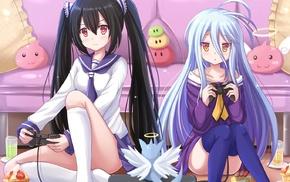 anime girls, anime, school uniform, Shiro No Game No Life, twintails, No Game No Life