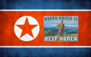 flag, North Korea, stars
