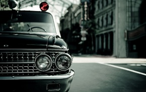 photography, car, Headlights, vintage