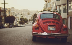 Volkswagen Beetle, vintage, photography, car