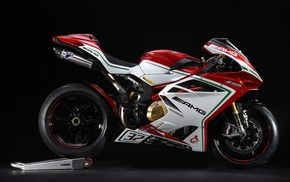 MV Augusta, black background, AMG Line, exhaust pipes, MV Agusta F4 RC, motorcycle