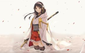 Kantai Collection, anime, Haruna KanColle, anime girls