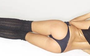 girl, blonde, leggings, model, multiple display